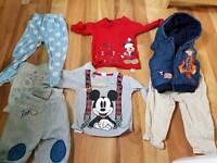 Disney Bundles boys clothes 0-12 months