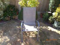 brand new garden chairs in grey metal