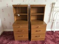 PAIR HYGENA BEDSIDE TABLES CABINETS NOTTINGHAMSHIRE