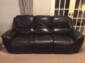 Lazy Boy 3 Seat Leather electric reclining Sofa