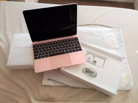 Latest Macbook 12 AS NEW Rose Gold Top Spec Intel M5 1.2 GHz 512GB SSD + Applecare to May 2019
