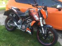 Ktm duke 125 (abs) 2012 with extras not yzf dtr Kmx ybr cbf cg rs dna