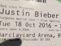 Justin briber Ticket swap birmingham
