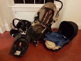 Cybex Pram with Carry Cot and Car Chair