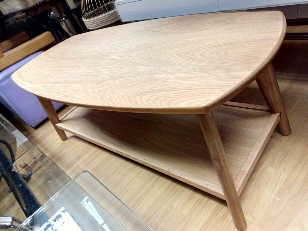 Oval Coffee Table With Shelf.Oak Oval Coffee Table With Shelf In Nottingham Nottinghamshire Gumtree