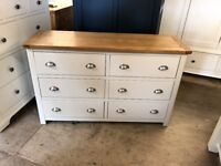 LUNDY STONE GREY 6 Drawer Wide Chest