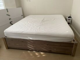 Almost New: Superking Size Bed Frame With Four Underbed Drawers & Mattress