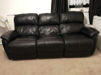 DFS Leather sofa very good condition only £350