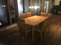 Large dining table + 6 chairs