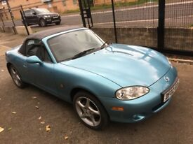 2002 Mazda MX-5 1.8 S-VT SPORT Convertible - only 39k miles - Service history - Metallic Blue