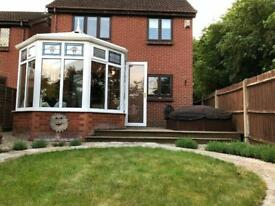 Conservatory with double glazing and polycarbonate roof for sale