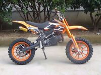 50cc DirtBike Scrambler Motocross Bike Upgraded PRO Version ALL COLOURS