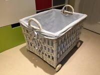 Wheeled Storage Basket