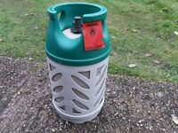 10kg PROPAGNE GAS BOTTLE FOR BBQ/PATIO HEATER/LEISURE - 'GASLIGHT' - LIGHT WEIGHT CYLINDER
