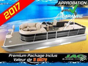2017 Legend Boats Ponton Bayshore EXT Mercury 25 EL Bateau pêche