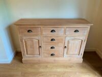 Wooden Chest of Drawers Natural Wood