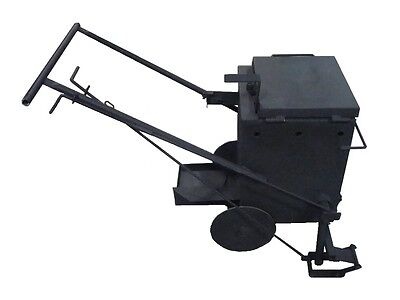 Portable Asphalt Melter and Applicator with Wheels - Direct Fire - 10 Gal