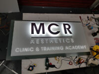 Health and Beauty Salon Signs, Aesthetic Clinics, Halo Illuminated, 3D Lettering, Free Design