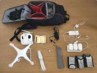 Dji phantom 4 pro with backpack and accessories