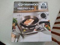 Daewoo Single Hot Plate. Brand New.