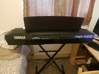 Yamaha PSR 7000 Keyboard/Arranger immaculate condition with stand, bag and manuals