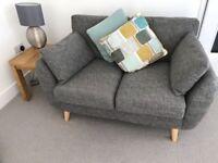 Next Wilson Dark Grey Small Sofa