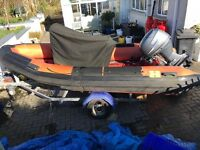 4.5m Humber rib/boat & 40hp Yamaha 4 stroke...mint condition..£3250ono Downpatrick