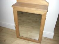 BATH ROOM CABINET PINE WITH MIRROR