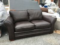 New/Ex ScS Brown Leather 2 Seater Sofa