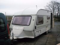1988 Abi Jubilee Courier 4 berth caravan with full awning