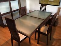 Calligaris Dining Table, 4 x Chairs, Display Cabinet, Sideboard, Coffee Tablet & Cabinet