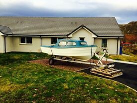 15ft day boat for sale , with trailer and outboard
