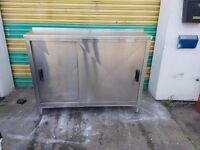 commercial stainless steel shelf cupboard sliding door free local delivery