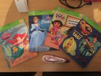 Leap frog tag learning system pen and books