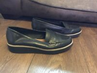 Women's black leather loafers from next size 6