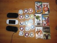 PSP Console (3 to choose from) + any 3 games from the pile