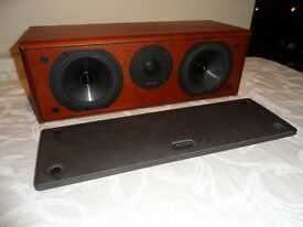 Epos M8 Centre Speaker - Fantastic Sound Quality - Real Cherry Wood Veneer