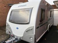 4 berth fixed bed Bailey Evo 2012. Still like new. 260 air awning. BARGAIN