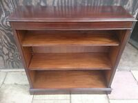 BOOKCASE, SOLID WOOD, 40 years old, TREATED AND VANISHED, LOOKS NEW