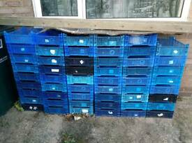 50 plastic storage boxes garage shed tools