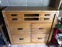 Solid wood desk/cupboard
