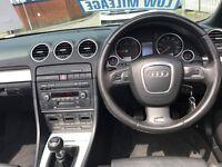 2006 (56 reg) Audi A4 Cabriolet 2.0 TDI S Line Cabriolet Turbo Diesel 6 Speed Manual Convertible