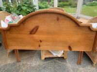 Antique (stained) pine headboard
