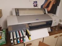Epson Pro 7600 & Epson 9600 Wide Format Printer Printers with Stand and Extras