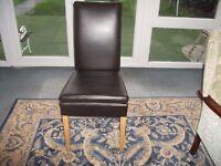 Faux Brown Chair