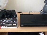 PS3 super slim plus 6 games