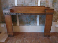 Antique Victorian Fireplace Wood Surround