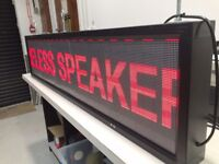 LED Shop Sign Scrolling Advertising Bright Multicolour programmable via USB