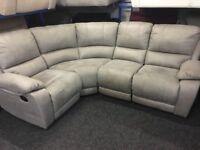 NEW / EX DISPLAY Grey LazyBoy Whity Corner Recliner Sofa (left or right corner)