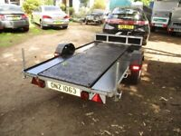 9-0 X 4-6 (UNBRAKED) TRANSPORTER TRAILER WITH STEEL RAMPS...